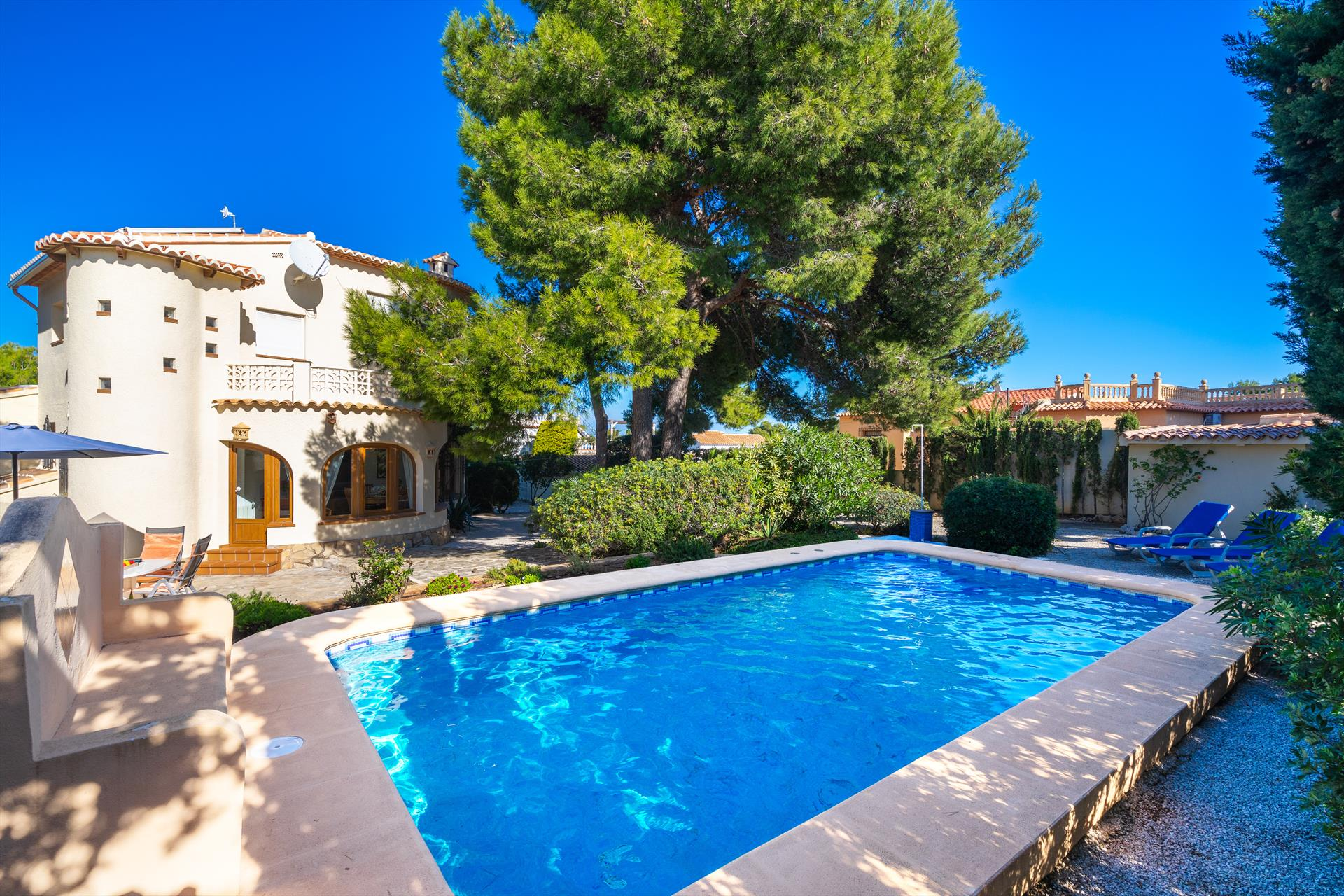 La Gaviota, Classic and nice holiday home  with private pool in Javea, on the Costa Blanca, Spain for 4 persons...