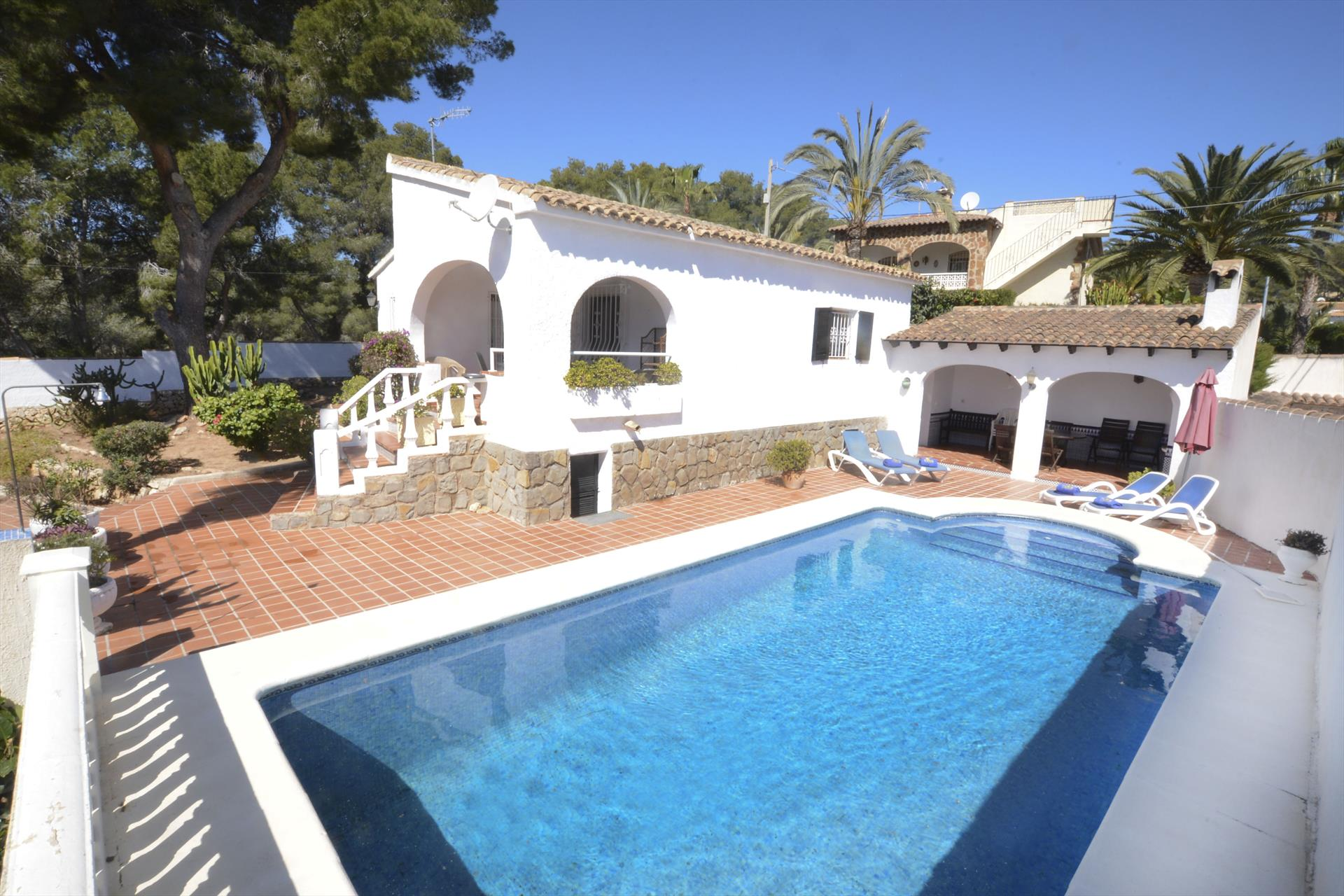 Villa Wally, Villa in Benissa, on the Costa Blanca, Spain  with private pool for 5 persons.....