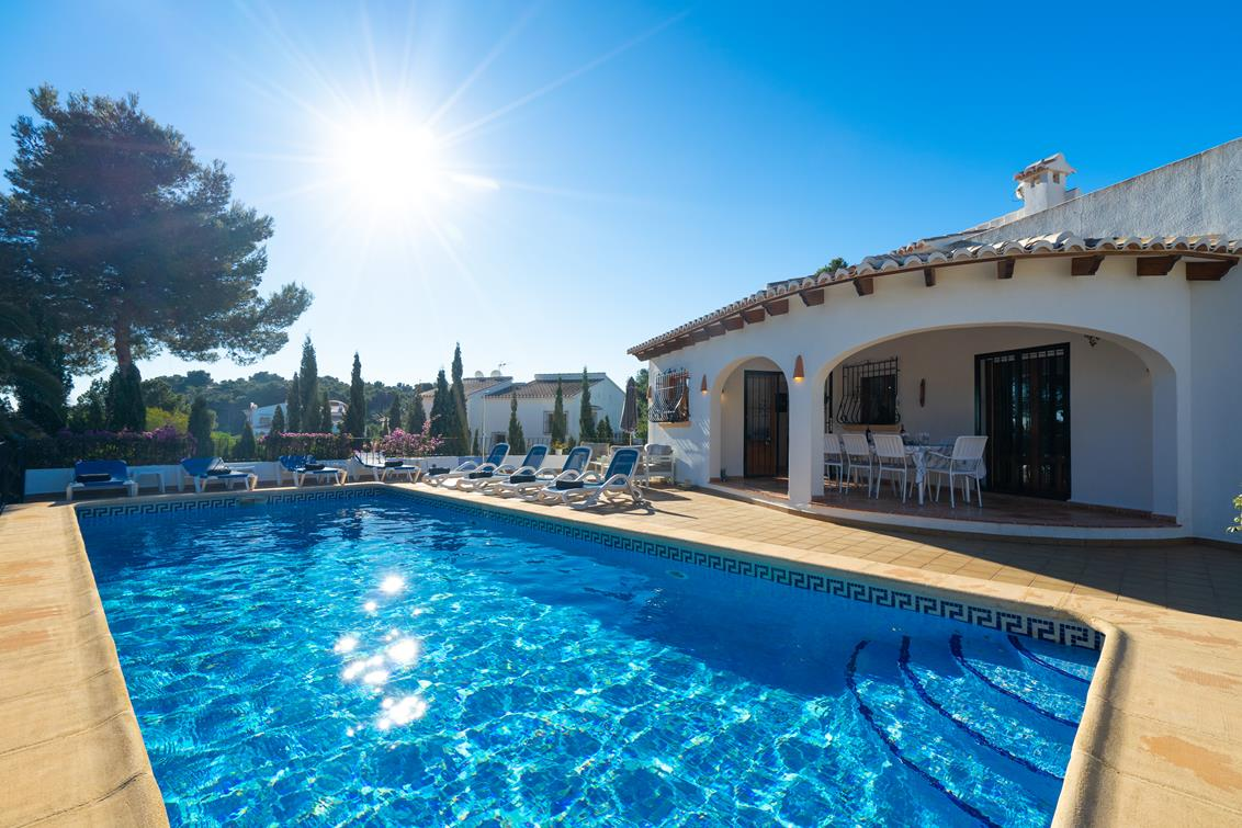 Casablanca 8, Lovely and comfortable luxury villa  with private pool in Javea, on the Costa Blanca, Spain for 8 persons.....