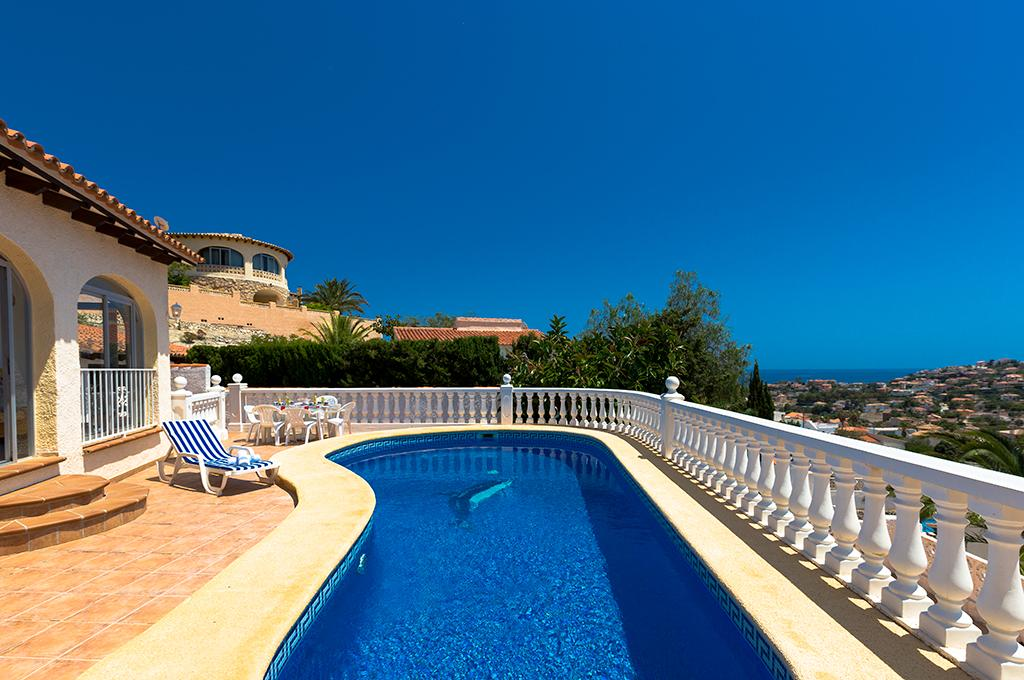 Alba 6, Villa in Calpe, on the Costa Blanca, Spain  with private pool for 6 persons.....