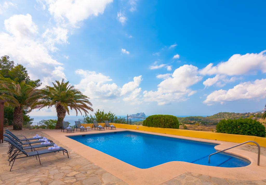 Romani  8, Beautiful country house with private pool in Benissa, Spain for 8 persons, for a nice holiday on the Costa Blanca with family,.....
