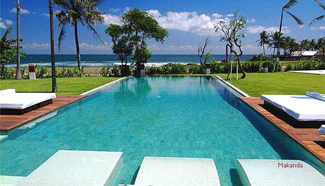 Makanda,Mooie en  luxe villa in Seseh, op Bali, Indonesië  met privé zwembad voor 8 personen...