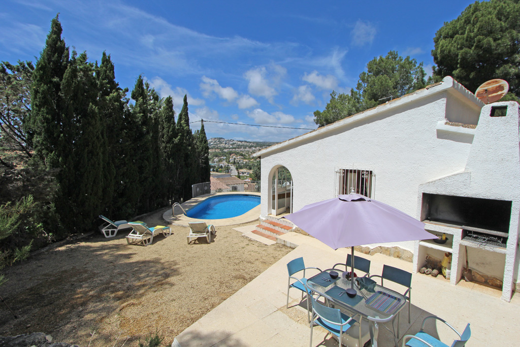 Tegel LT, Rustic and classic holiday home in Moraira, on the Costa Blanca, Spain  with private pool for 4 persons.....