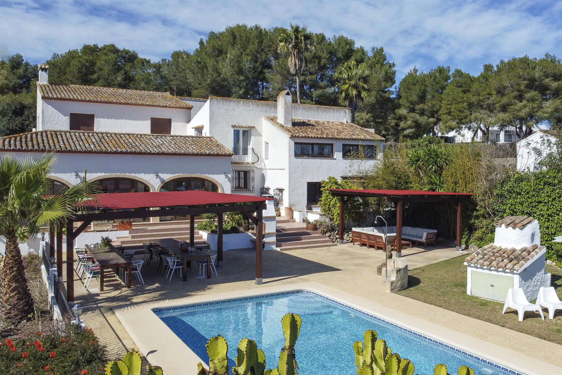 Casa Rosalia 12 pax, Large and classic villa in Javea, on the Costa Blanca, Spain  with private pool for 12 persons...