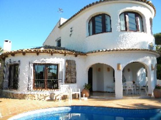 Villa 2015,Villa en Moraira, en la Costa Blanca, España  con piscina privada para 4 personas.....