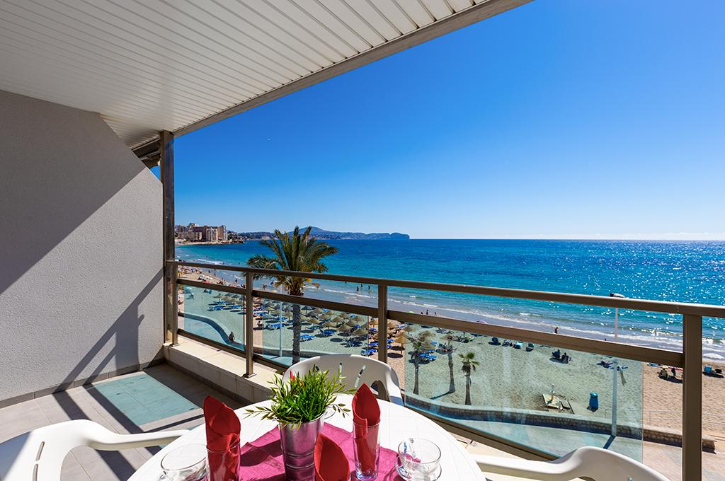 Frentemar III 6, Apartment in Calpe, on the Costa Blanca, Spain  with communal pool for 6 persons.....