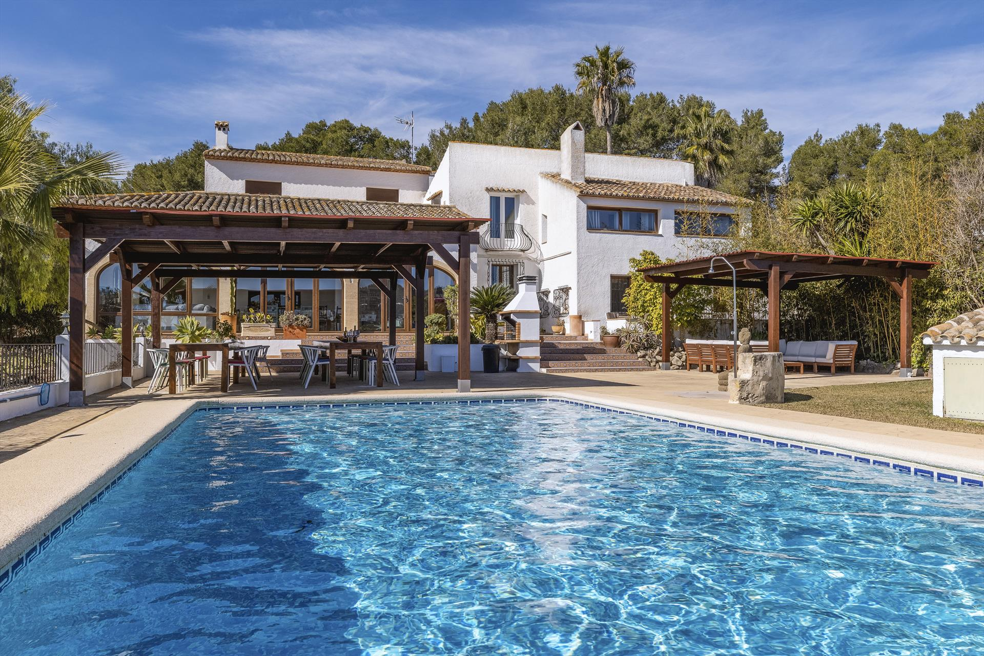 Casa Rosalia 22 pax, Large and cheerful luxury villa in Javea, on the Costa Blanca, Spain  with private pool for 22 persons.....