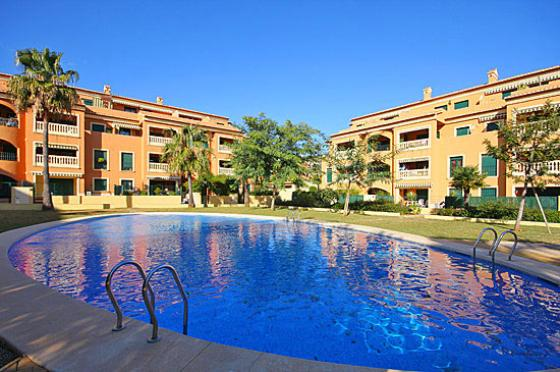Jardines del Puerto, Lovely and comfortable apartment in Javea, on the Costa Blanca, Spain  with communal pool for 4 persons.....