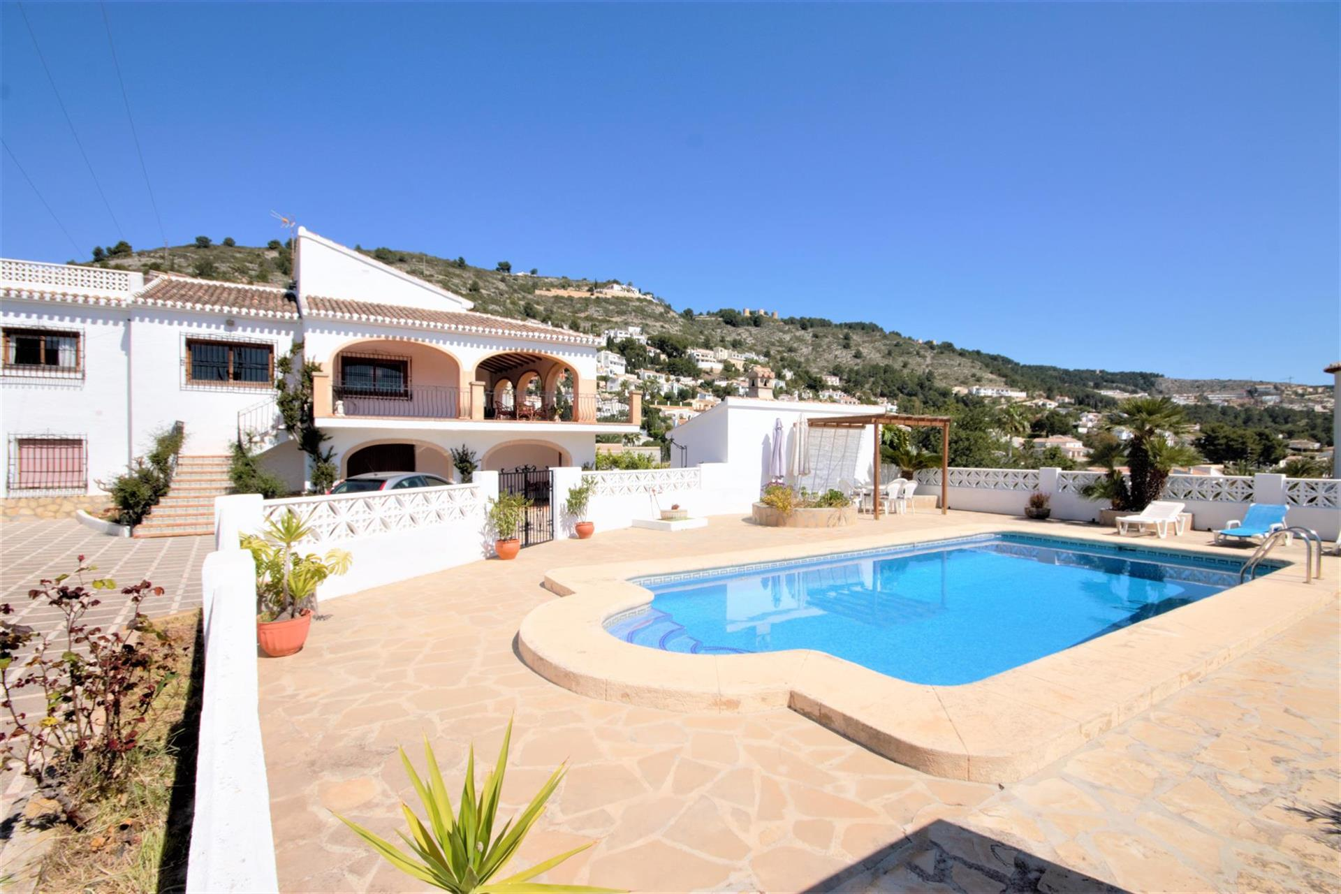 Calas, Large and comfortable villa  with private pool in Javea, on the Costa Blanca, Spain for 8 persons.....