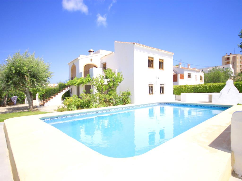 Salina, Large and cheerful villa  with private pool in Javea, on the Costa Blanca, Spain for 12 persons.  The villa is situated.....