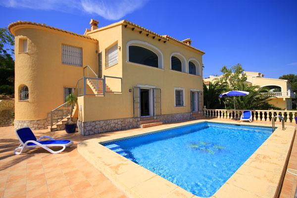 Bahias, Wonderful and romantic villa  with private pool in Javea, on the Costa Blanca, Spain for 4 persons...