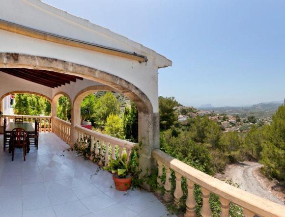 La torra,Casa de vacaciones grande y clásica  con piscina privada en Benitachell, en la Costa Blanca, España para 8 personas...