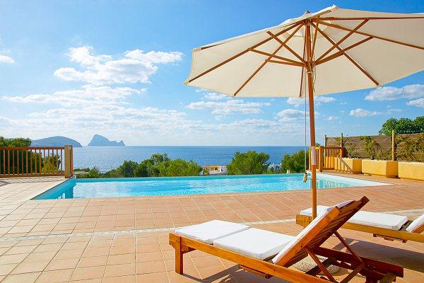 Bernadette, Villa in Cala Codolar, Ibiza, Spain  with private pool for 6 persons...