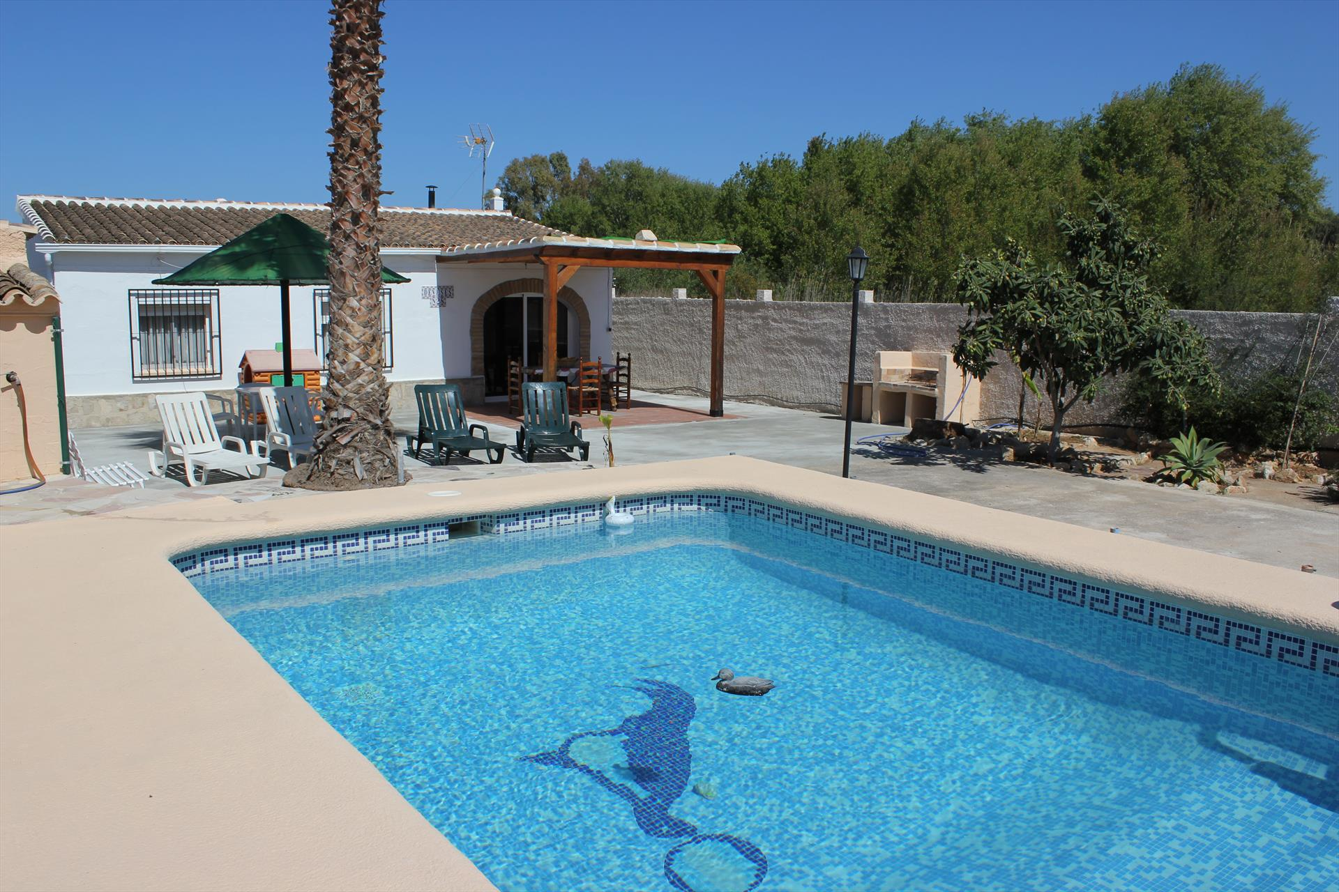 Villa Cirera, Rustic and comfortable villa  with private pool in Denia, on the Costa Blanca, Spain for 6 persons.....