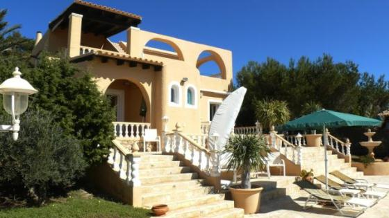 604, Villa  with private pool in Cala Codolar, Ibiza, Spain for 7 persons...