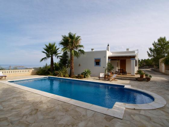 606, Villa in Cala Tarida, Ibiza, Spain  with private pool for 6 persons...