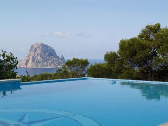 620, Villa in Cala D Hort, Ibiza, Spain  with private pool for 8 persons...