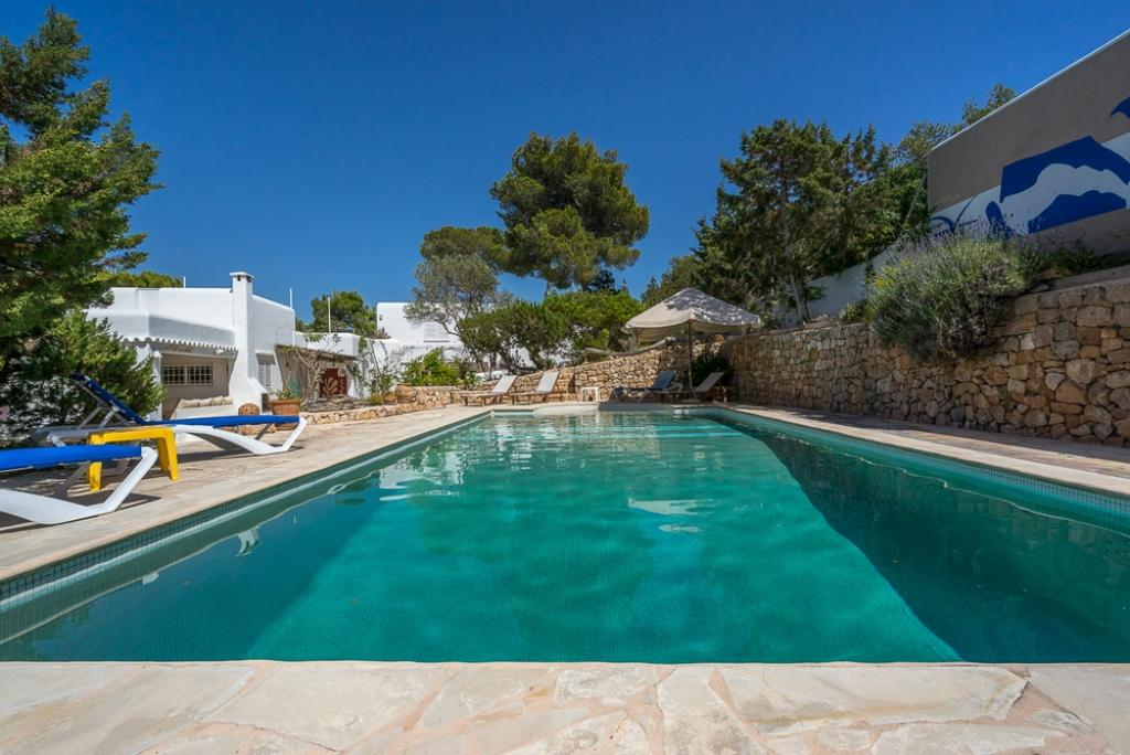 634, Villa in Cala Vadella, Ibiza, Spain  with private pool for 10 persons...