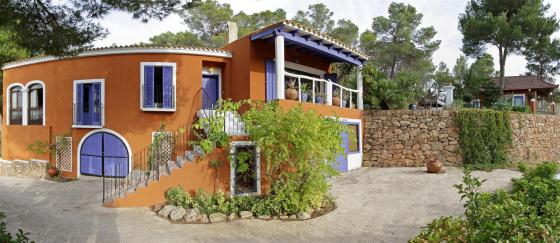 705, Villa in Cala Vadella, Ibiza, Spain  with private pool for 12 persons...