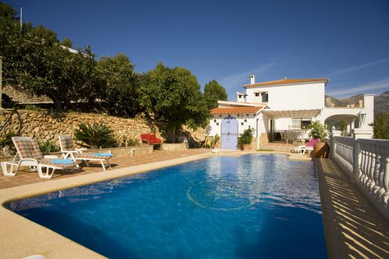 Casa Cristina, Villa in Polop, on the Costa Blanca, Spain  with private pool for 8 persons.....