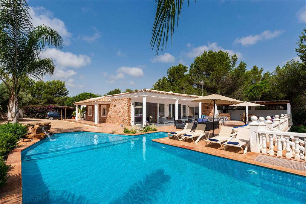 Can Flor 12, Large and comfortable villa in Cala Llonga, Ibiza, Spain  with private pool for 12 persons...