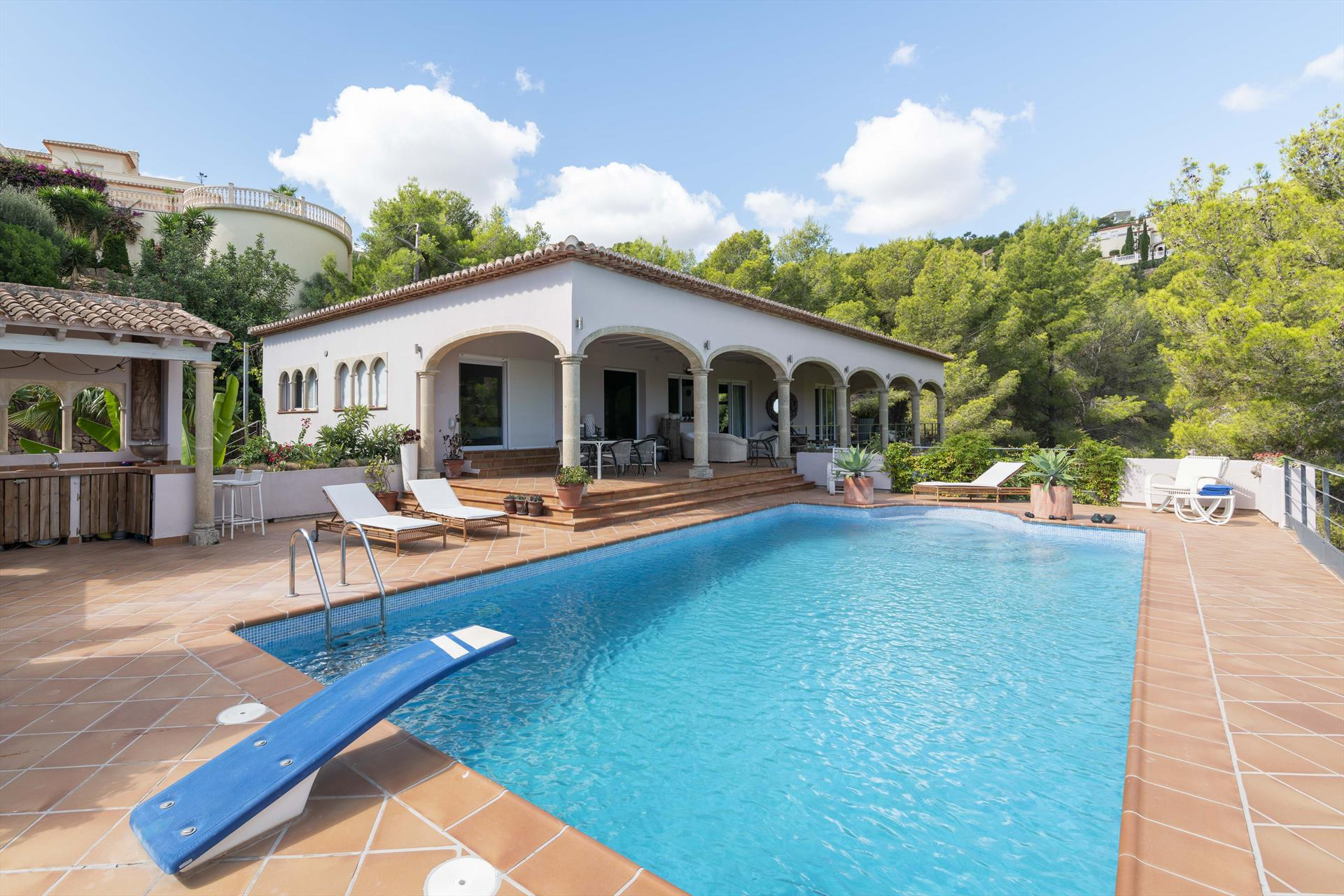 Belair, Classic and luxury villa  with private pool in Denia, on the Costa Blanca, Spain for 8 persons.....
