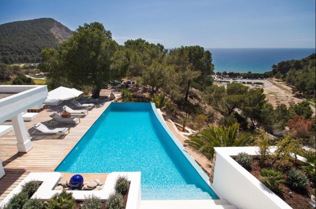 817,Large and comfortable villa  with private pool in Cala Jondal, Ibiza, Spain for 8 persons...