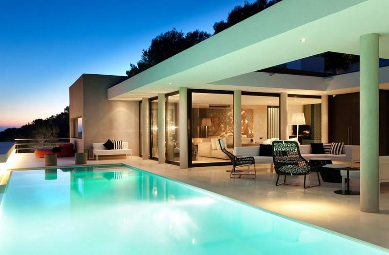 830, Large and luxury villa in San Jose, Ibiza, Spain  with private pool for 10 persons...