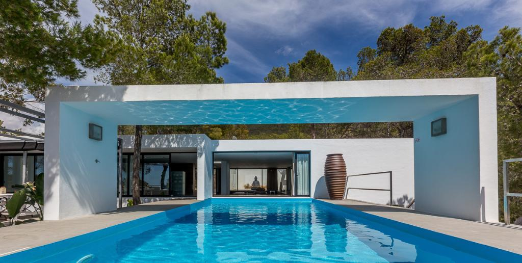 874, Large and luxury villa in Cala Vadella, Ibiza, Spain  with private pool for 10 persons...