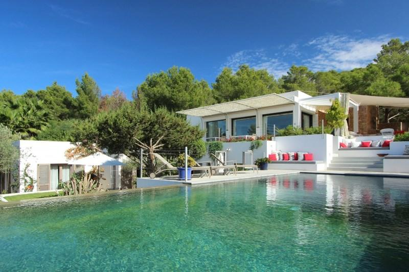 885, Beautiful and comfortable villa in Cala Tarida, Ibiza, Spain  with private pool for 12 persons...