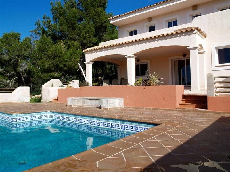 645, Villa in Cala Tarida, Ibiza, Spain  with private pool for 8 persons...