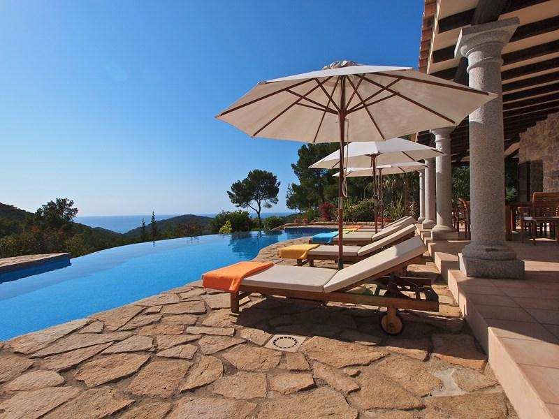 888, Large and comfortable villa in San Jose, Ibiza, Spain  with private pool for 10 persons...