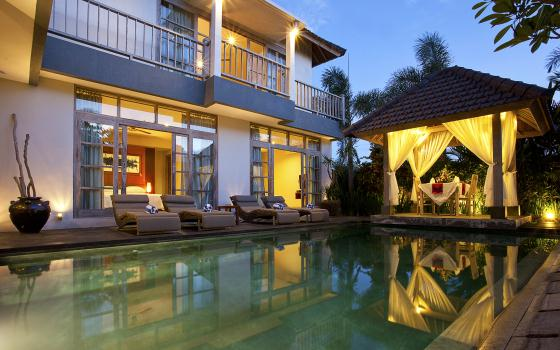 Coral,Large and luxury villa  with private pool in Canggu, Bali, Indonesia for 8 persons...