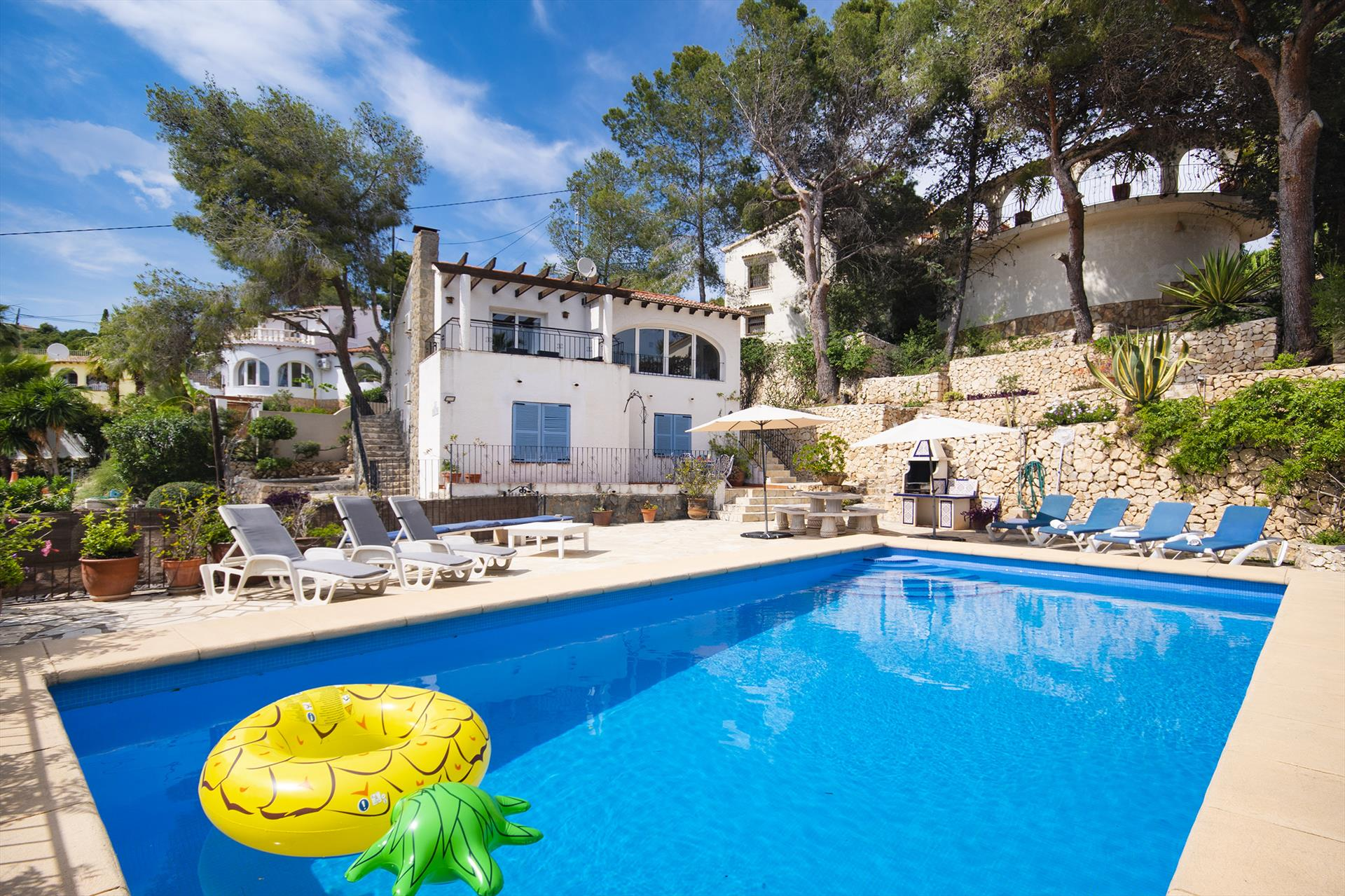 Georgianna 8p, Classic and comfortable villa in Benissa, on the Costa Blanca, Spain  with private pool for 8 persons.....