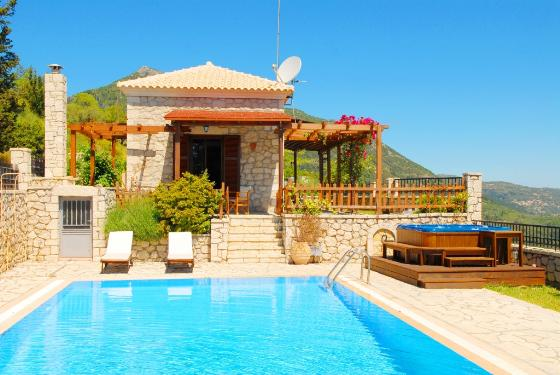 Lefkada villas, Beautiful and luxury villa  with private pool in Eparchía Lefkádos, Ionian Islands, Greece for 4 persons...