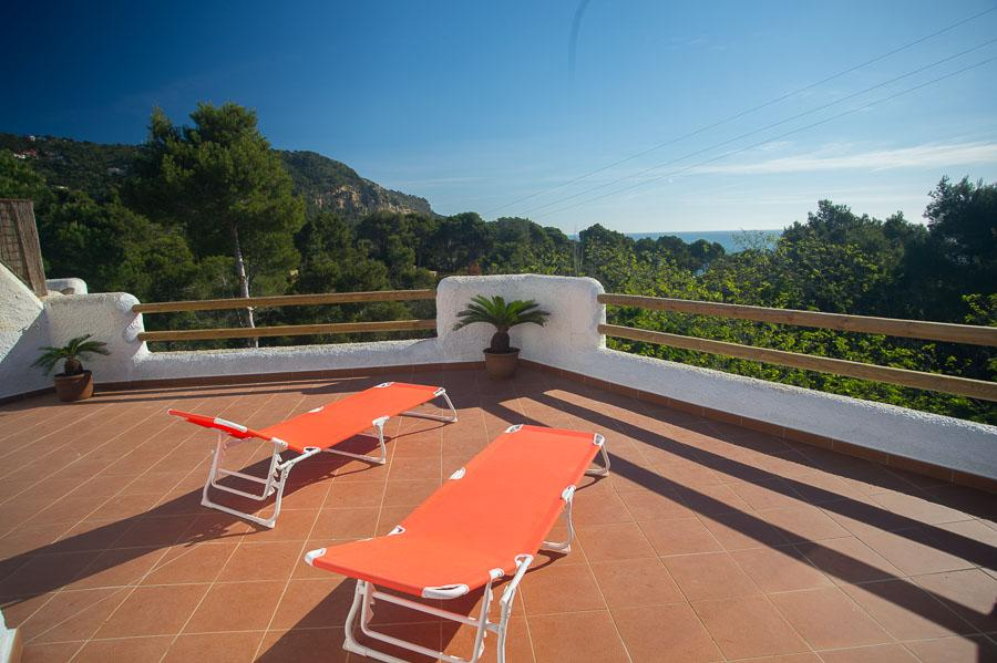 LA FALCONERA  casa tipo ibizenco para 8 peronas con vista al mar y aire acondicionado, Large and comfortable house in Begur, on the Costa Brava, Spain for 8 persons.....
