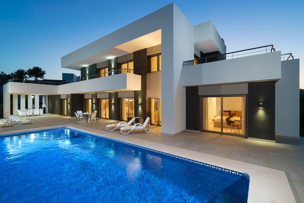Villa Albatros 8, Holiday Villa with private pool newly built for a capacity of 8 people in Moraira - Costa blanca. , Its modern style and.....