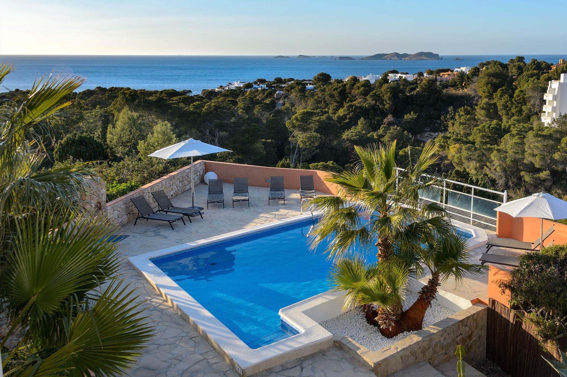 Can Costa, Beautiful and comfortable villa  with private pool in Cala Vadella, Ibiza, Spain for 8 persons...