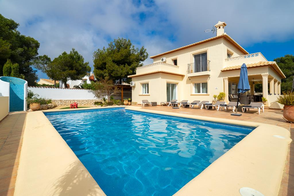 Vista Ibiza, Modern and comfortable villa  with private pool in Javea, on the Costa Blanca, Spain for 8 persons...