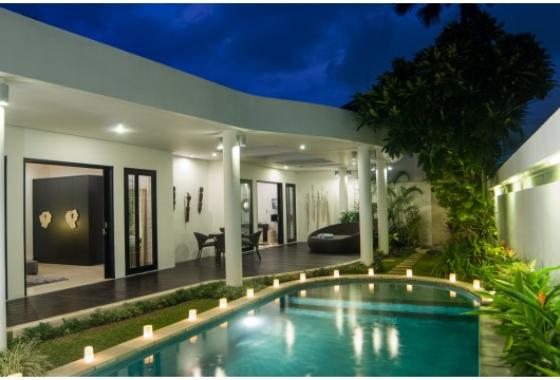 Lanai, Modern and luxury villa  with private pool in Seminyak, Bali, Indonesia for 4 persons...
