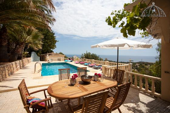 Splendid, Large and nice villa  with private pool in Altea, on the Costa Blanca, Spain for 8 persons.....