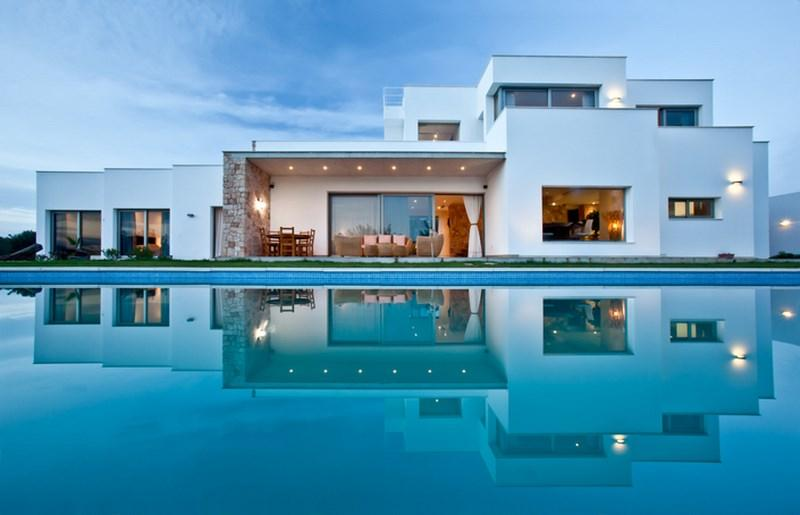 813, Modern and luxury villa  with private pool in San Rafael, Ibiza, Spain for 12 persons...