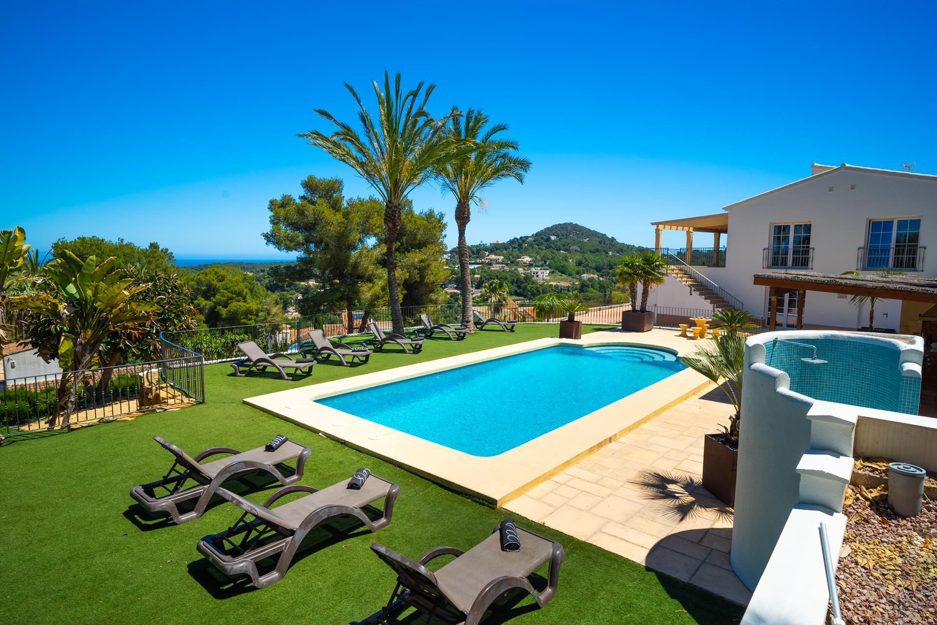 Vista al Mar, Grosse Luxus Villa  mit privatem Pool in Javea, an der Costa Blanca, Spanien für 10 Personen.....