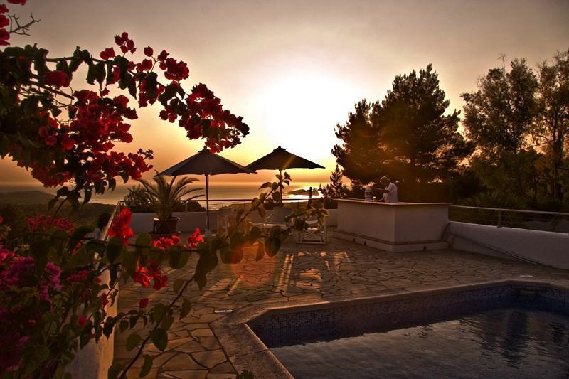 929,Villa  with private pool in Cala Tarida, Ibiza, Spain for 10 persons...