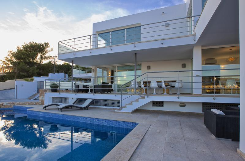 930, Beautiful and comfortable villa in Cala Tarida, Ibiza, Spain  with private pool for 10 persons...