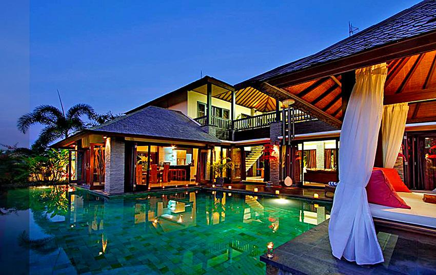 The Bale Tokek, Beautiful and luxury villa  with private pool in Canggu, Bali, Indonesia for 8 persons...