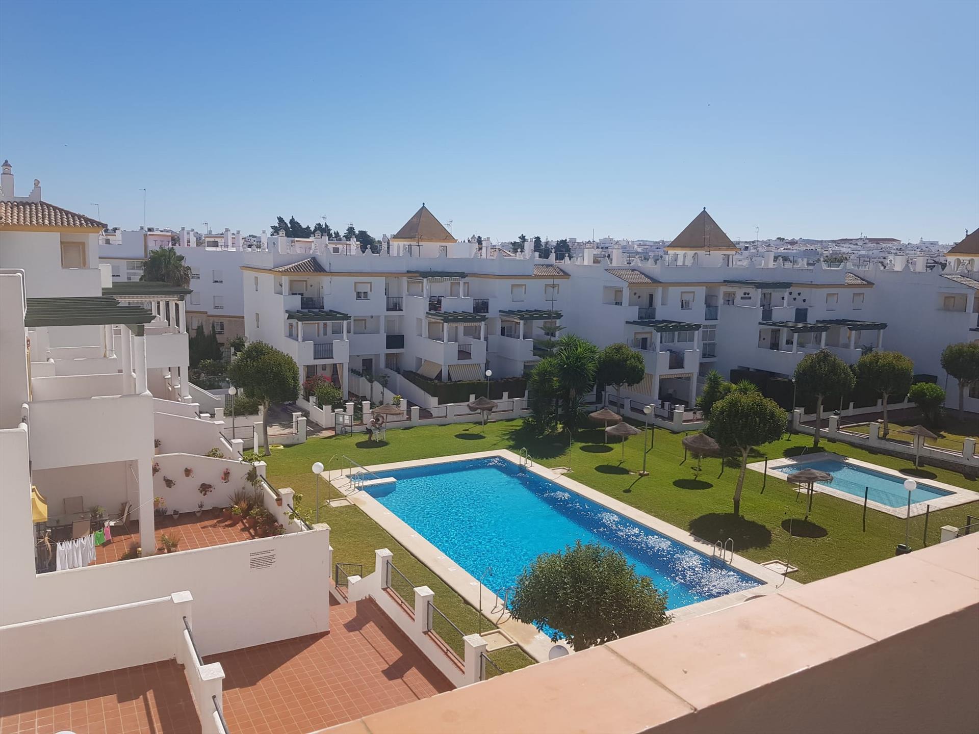 Conil 189 p4,Apartment in Conil de la Frontera, Costa de la Luz, Spain  with communal pool for 4 persons.....