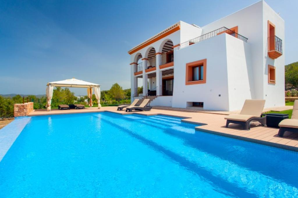 937, Beautiful and comfortable villa in Benimussa, Ibiza, Spain  with private pool for 8 persons...
