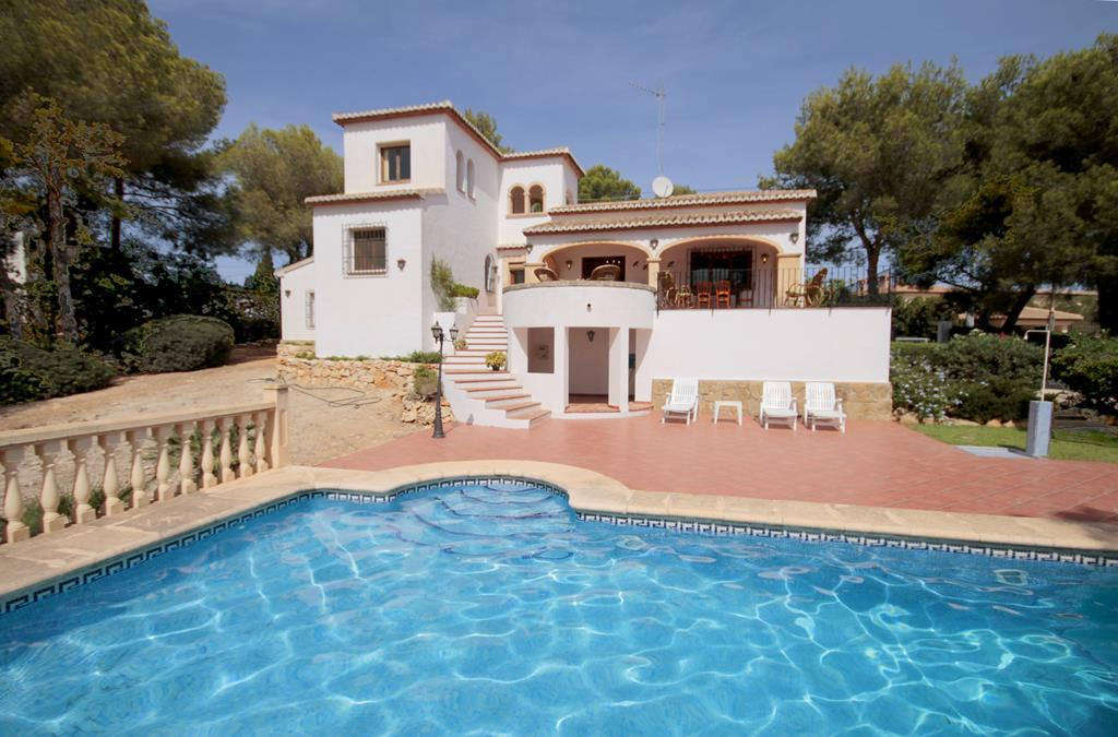 Orion, Grosse und komfortable Villa in Javea, an der Costa Blanca, Spanien  mit privatem Pool für 8 Personen.....