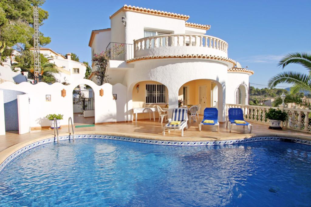 Villa Buissiniere, Villa  with private pool in Moraira, on the Costa Blanca, Spain for 4 persons.....